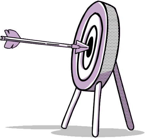 Training - Illustraion of an arrow in a target