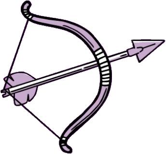 Education - Illustraion of a flexed bow and arrow